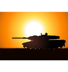 Tank Silhoutte vector image