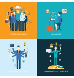 Teamwork and human resources vector
