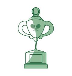 tennis trophy cup vector image