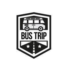 the bus trip logo vector image