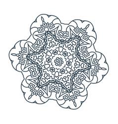 tracery mandala vector image