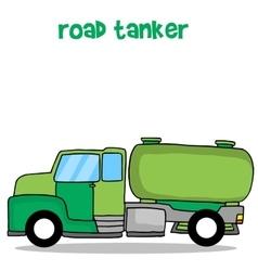 Transportation of road tanker truck vector