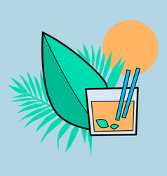 tropical cocktail vector image