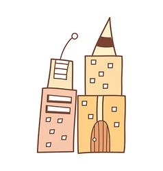 Two buildings vector