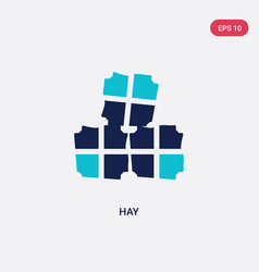 two color hay icon from farming concept isolated vector image