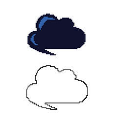 two variants of the cloud in the style of pixel ar vector image
