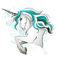 unicorn magic horse torso vector image