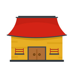 Vietnam house icon flat style vector