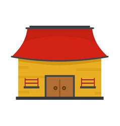 Vietnam house icon flat style vector