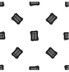 Will pattern seamless black vector