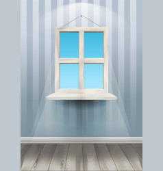 Window on the wall vector