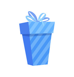 Wrapped christmas present 3d icon gift box vector