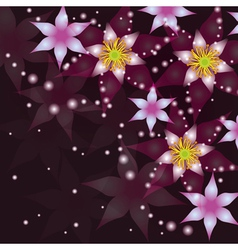 Abstract background with flowers invitation or vector image