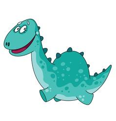big funny dino vector image vector image