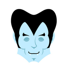 Dracula sleeps emoji vampire dream emotion face vector
