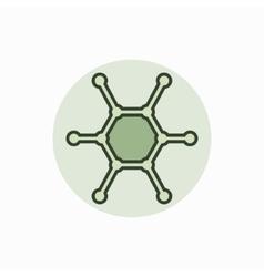 Molecule colorful icon vector image vector image