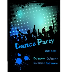 dance party green blue grunge vector image vector image