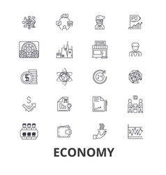 economy economics money business finance vector image vector image