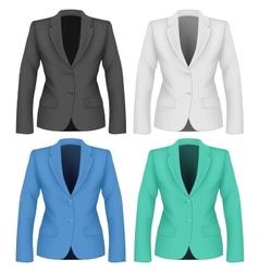 Formal work wear Ladies suit jacket vector image