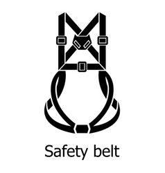 safety belt icon simple black style vector image
