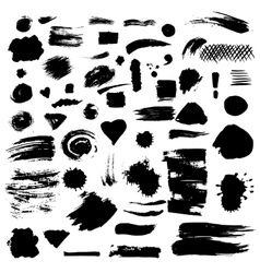 Set of paint stains vector image