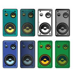 speakers mini set vector image vector image