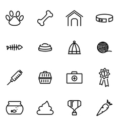 thin line icons - pet vector image