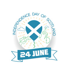 june independence day of scotland vector image vector image