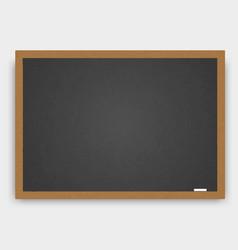 realistic wooden blackboard vector image