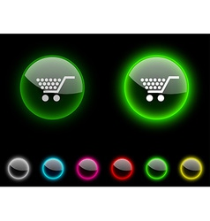 Shopping button vector image