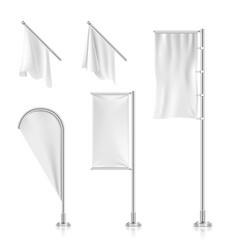 White blank banners advertising beach teardrop vector image vector image