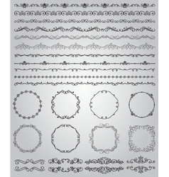 Black hand drawn doodle borders and frames vector
