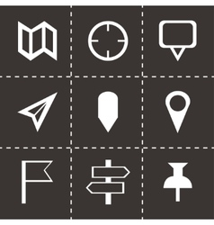 check marks icons set vector image