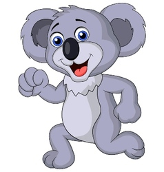 Cute koala cartoon running vector image vector image