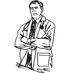 doctor man vector image