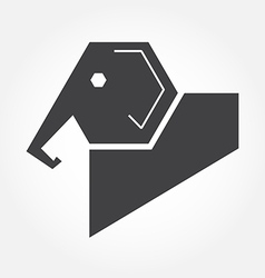 elephant in symbol style vector image