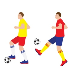 Football player with the ball vector image vector image