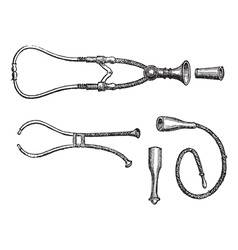 Stethoscopes vintage engraving vector image vector image
