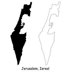 1089 jerusalem israel vector