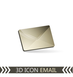 3d icon email envelope vector image