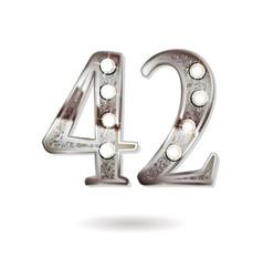 42 years anniversary celebration design vector