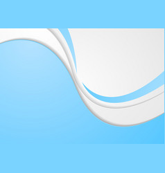 Abstract blue modern corporate wavy background vector