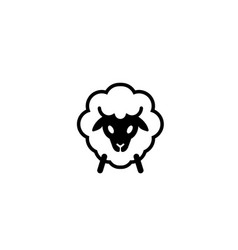 abstract cartoon sheep logo vector image