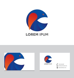 Abstract logo brand icon business card template vector image