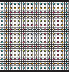 abstract square shape pattern overlapping with vector image
