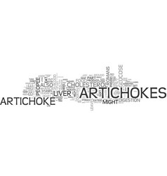 artichokes are a strange but healthy food text vector image