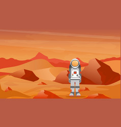 astronaut in a spacesuit on vector image