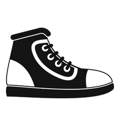 Athletic shoe icon simple style vector