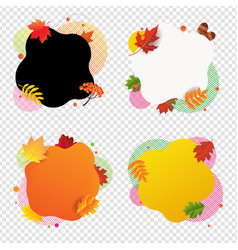 autumn happy halloween banner with leaves vector image