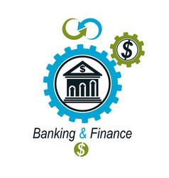 Banking and finance conceptual logo unique vector